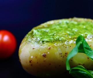 Pomme de terre farcie aux escargots
