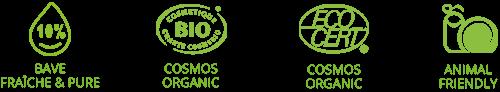 gommage corps bio certifié cosmebio et ecocert